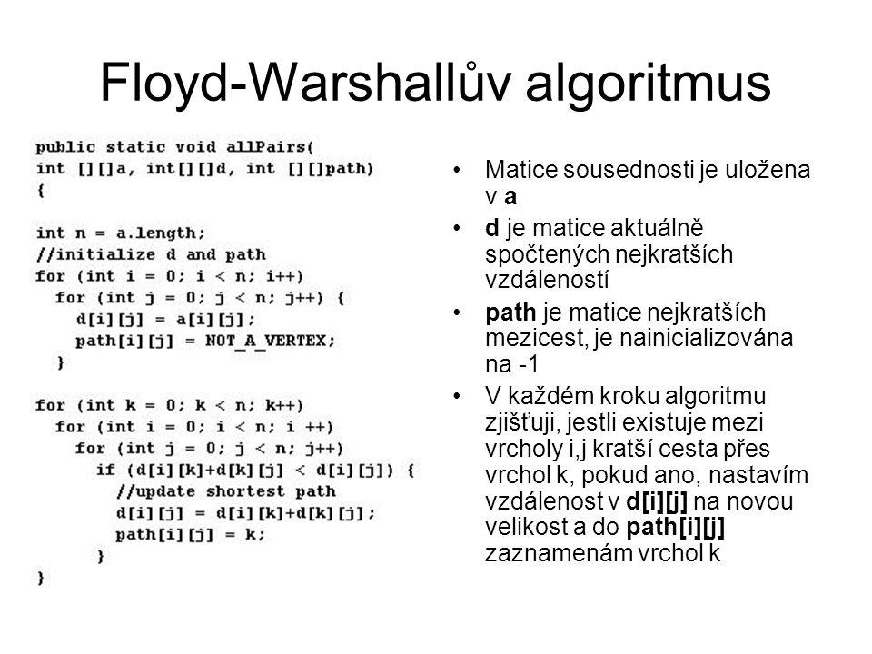 Floyd-Warshallův algoritmus