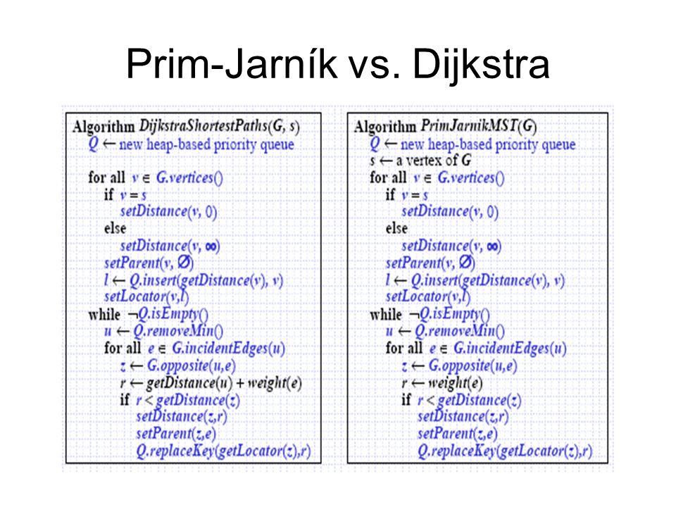 Prim-Jarník vs. Dijkstra