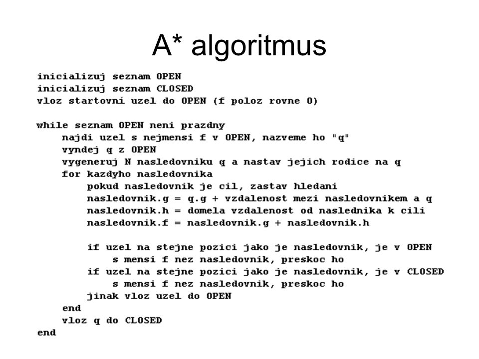 A* algoritmus
