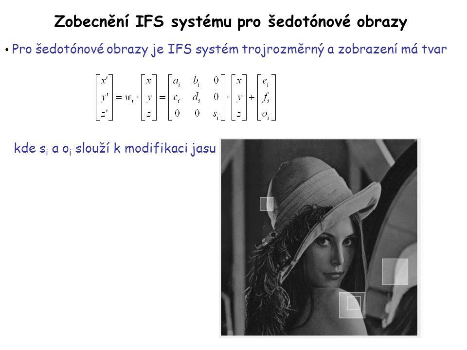 Zobecnění IFS systému pro šedotónové obrazy