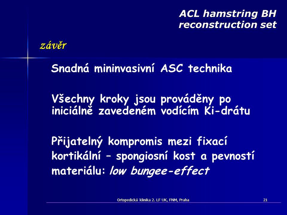 ACL hamstring BH reconstruction set Snadná mininvasivní ASC technika