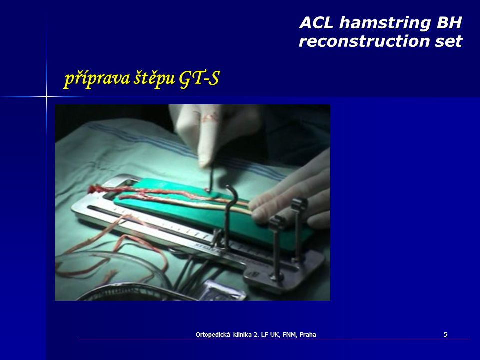 ACL hamstring BH reconstruction set