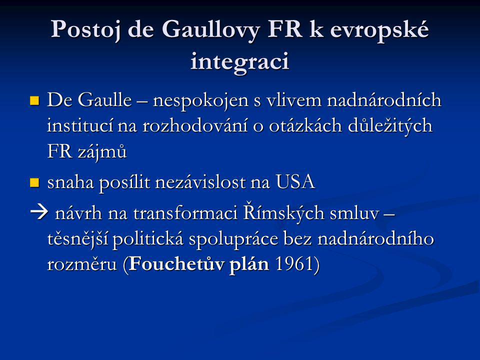 Postoj de Gaullovy FR k evropské integraci