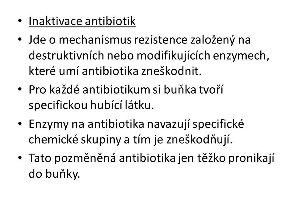 Inaktivace antibiotik
