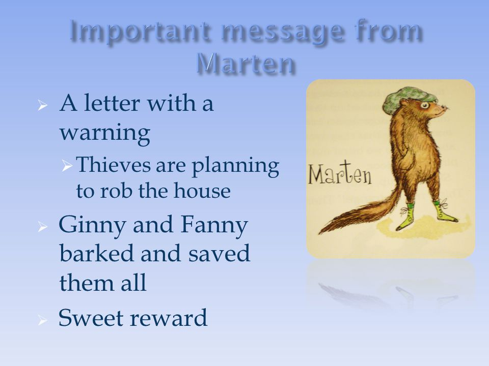 Important message from Marten