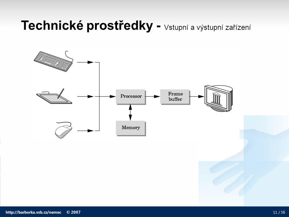Technické prostředky - Vstupní a výstupní zařízení