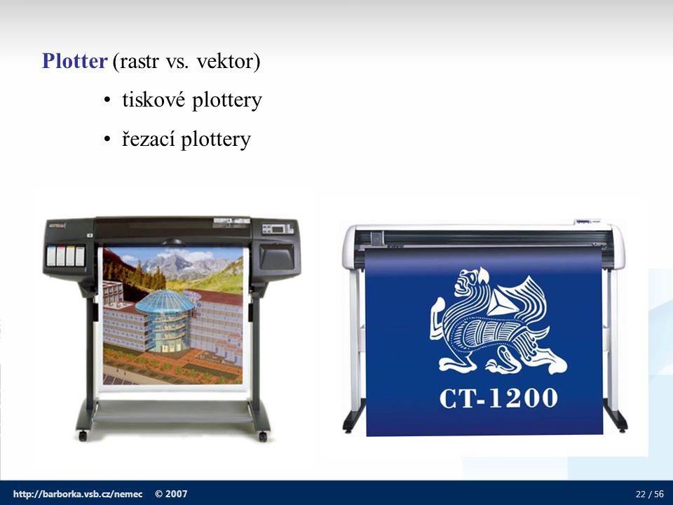 Plotter (rastr vs. vektor) tiskové plottery řezací plottery