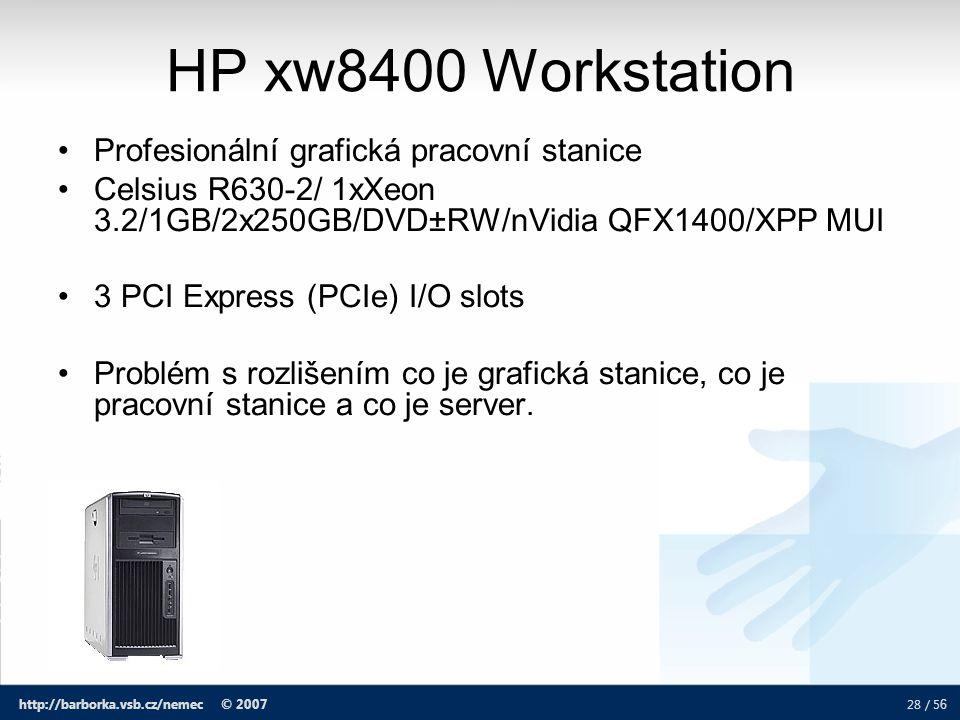 HP xw8400 Workstation Profesionální grafická pracovní stanice