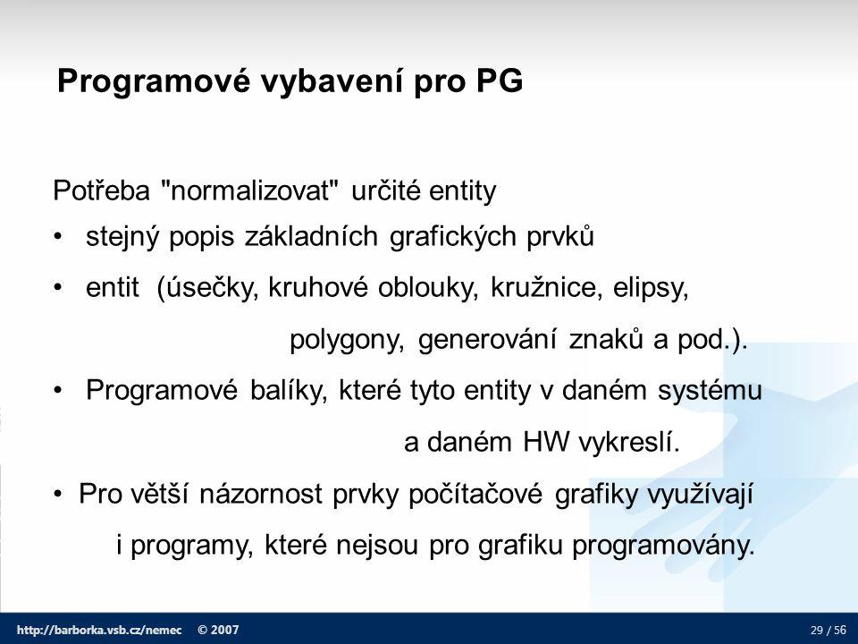 Programové vybavení pro PG