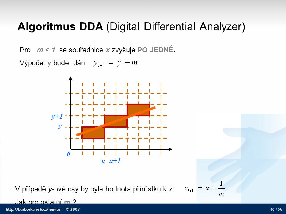 Algoritmus DDA (Digital Differential Analyzer)