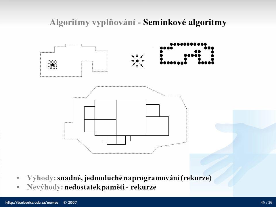 Algoritmy vyplňování - Semínkové algoritmy