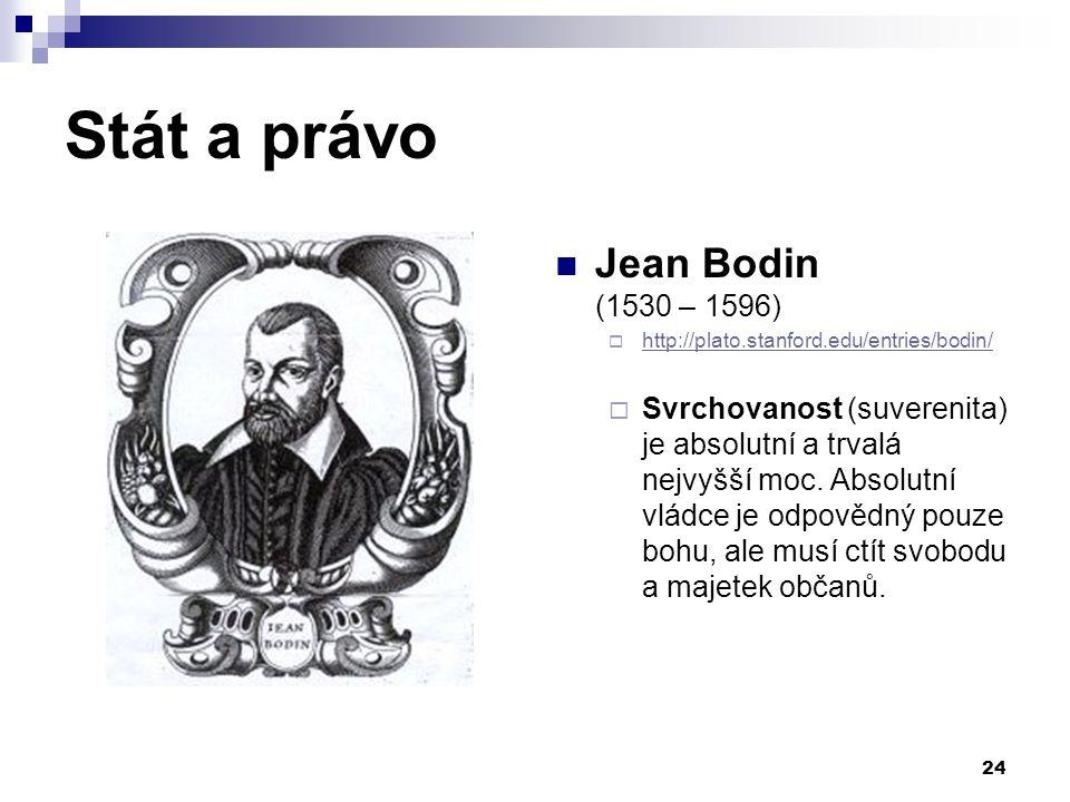 Stát a právo Jean Bodin (1530 – 1596)