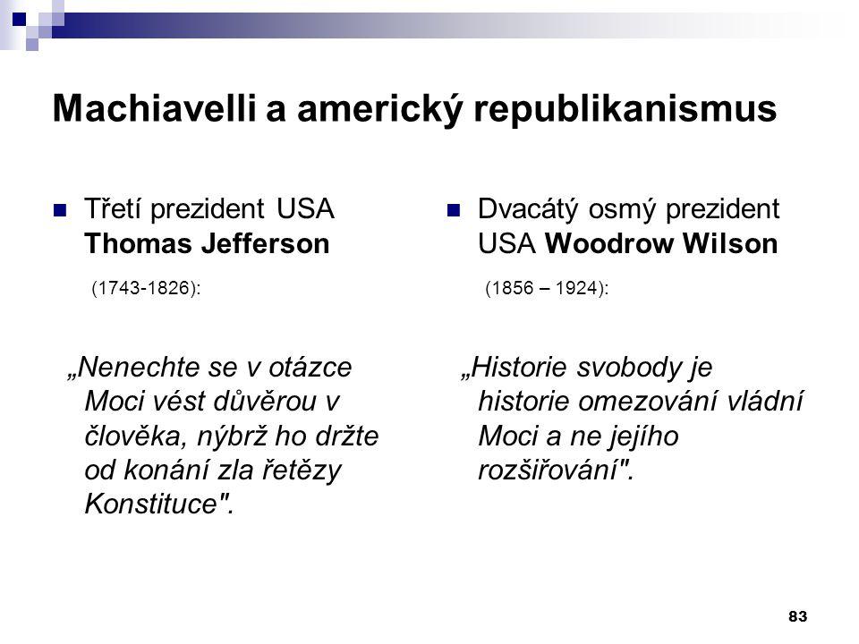 Machiavelli a americký republikanismus