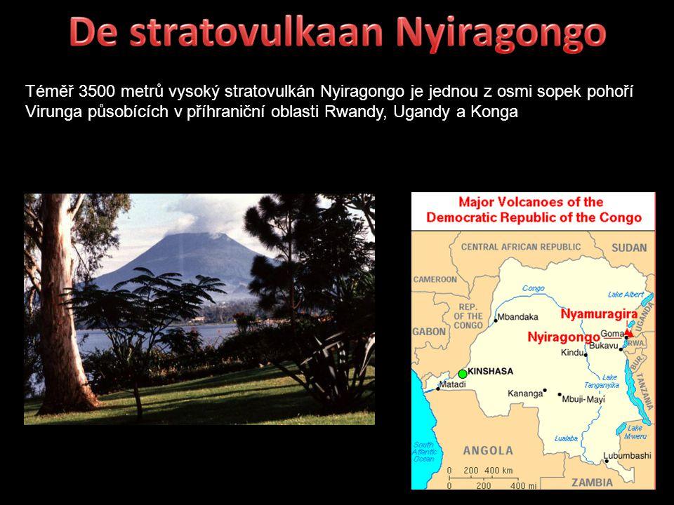 De stratovulkaan Nyiragongo