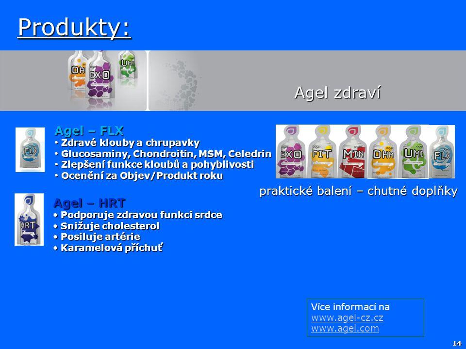Produkty: Agel zdraví Agel – FLX praktické balení – chutné doplňky