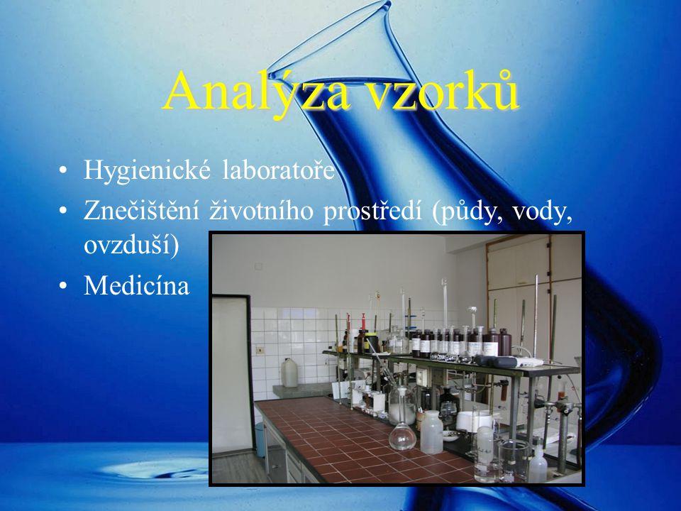 Analýza vzorků Hygienické laboratoře