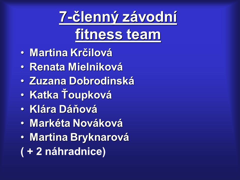7-členný závodní fitness team