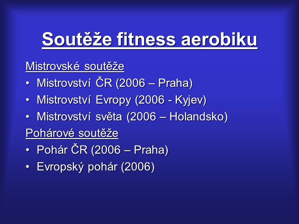 Soutěže fitness aerobiku