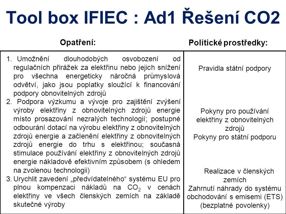 Tool box IFIEC : Ad1 Řešení CO2