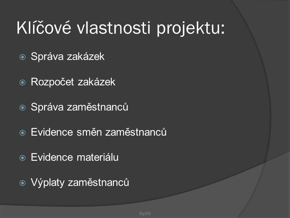 Klíčové vlastnosti projektu: