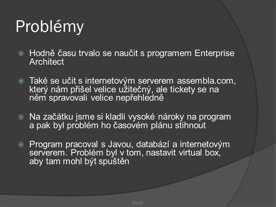 Problémy Hodně času trvalo se naučit s programem Enterprise Architect