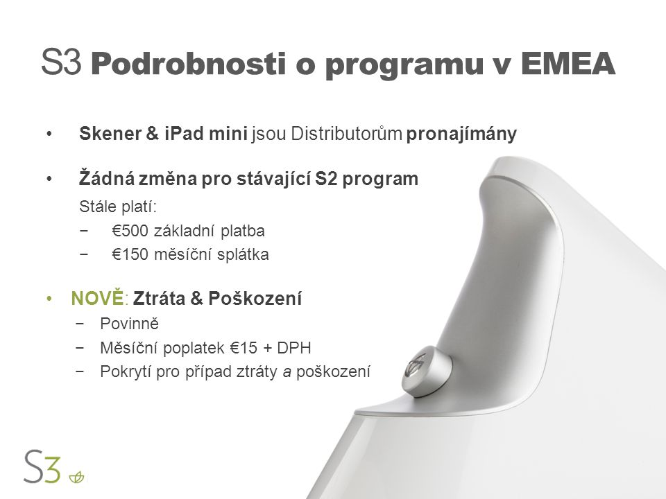 S3 Podrobnosti o programu v EMEA