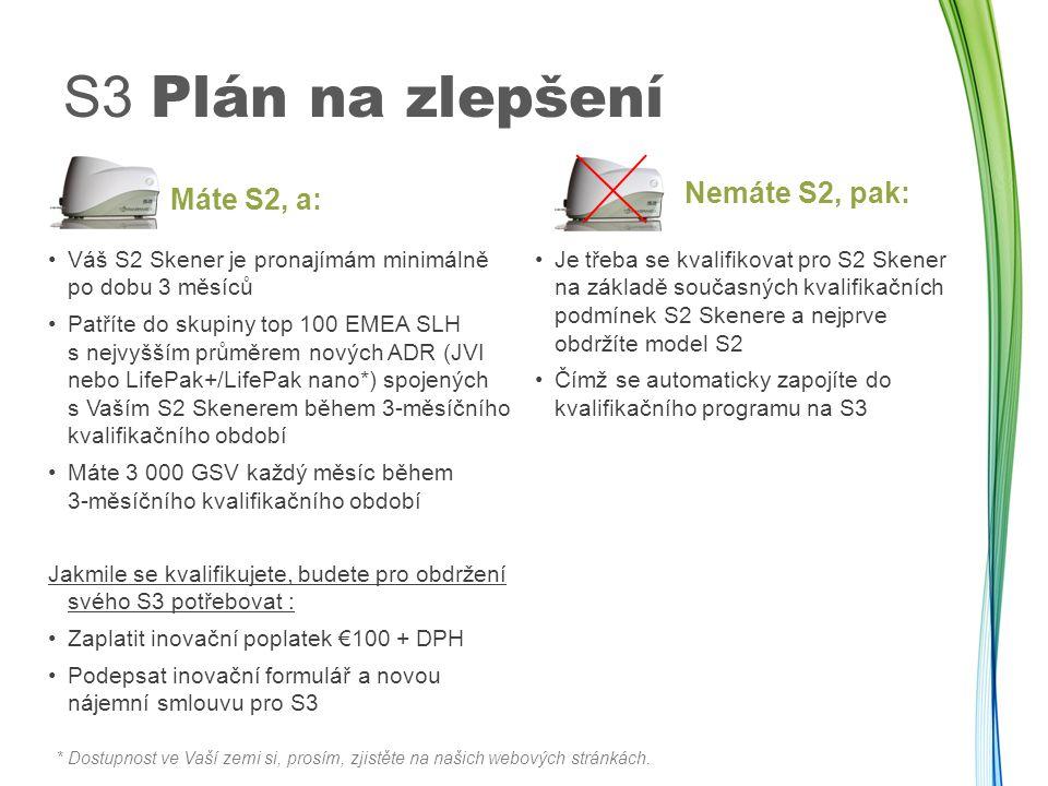 S3 Plán na zlepšení Nemáte S2, pak: Máte S2, a: