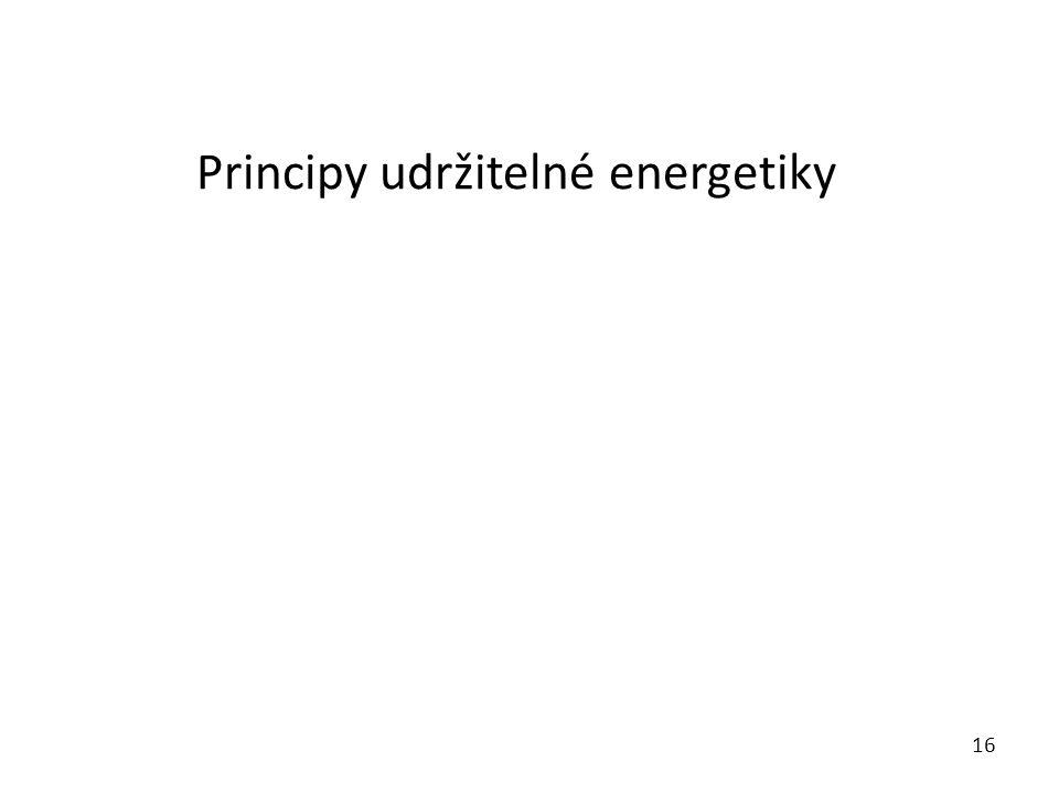 Principy udržitelné energetiky