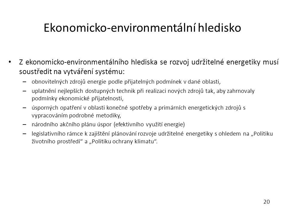 Ekonomicko-environmentální hledisko