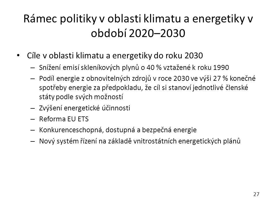 Rámec politiky v oblasti klimatu a energetiky v období 2020–2030