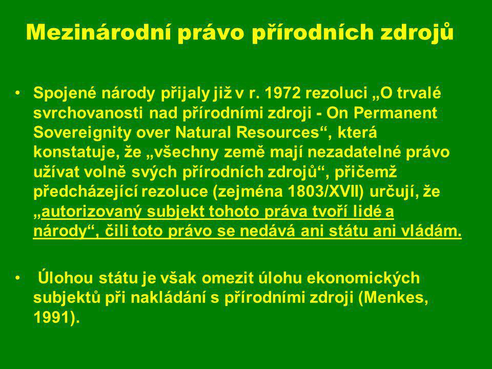 Mezinárodní právo přírodních zdrojů
