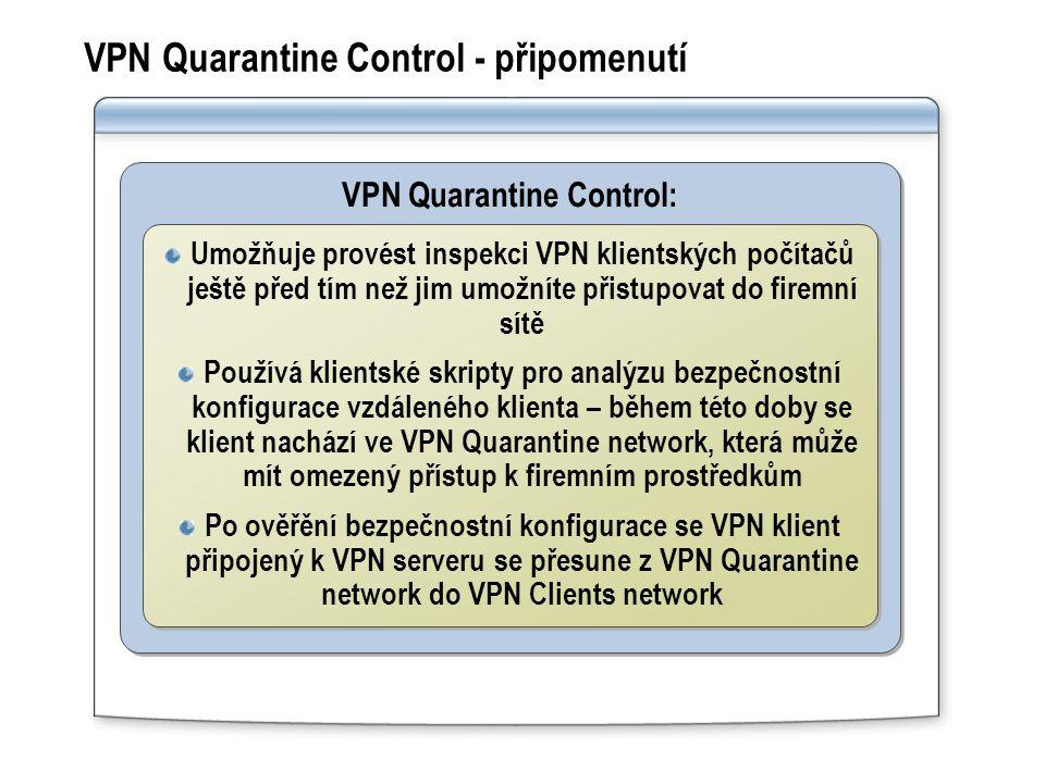 VPN Quarantine Control - připomenutí