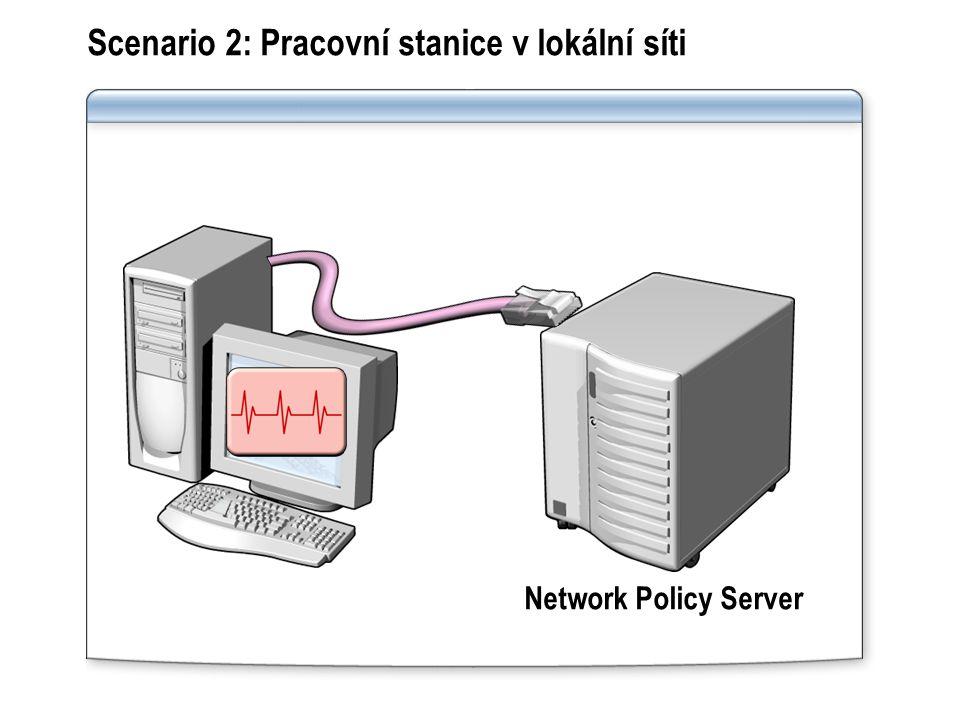 Scenario 2: Pracovní stanice v lokální síti