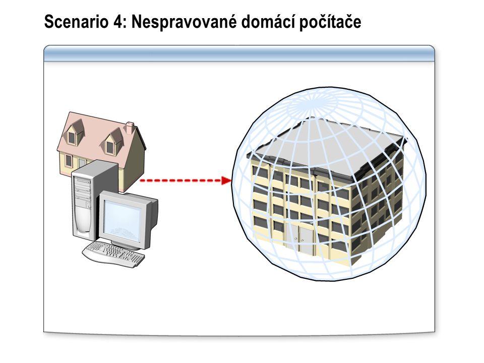 Scenario 4: Nespravované domácí počítače