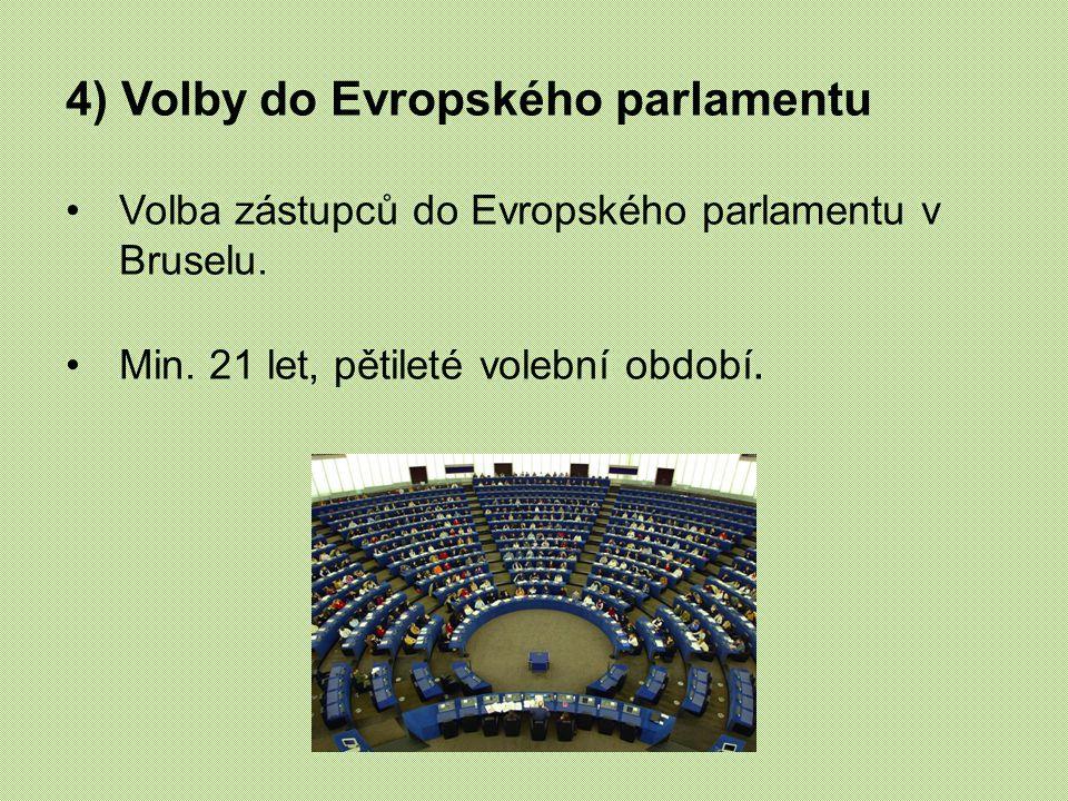 4) Volby do Evropského parlamentu