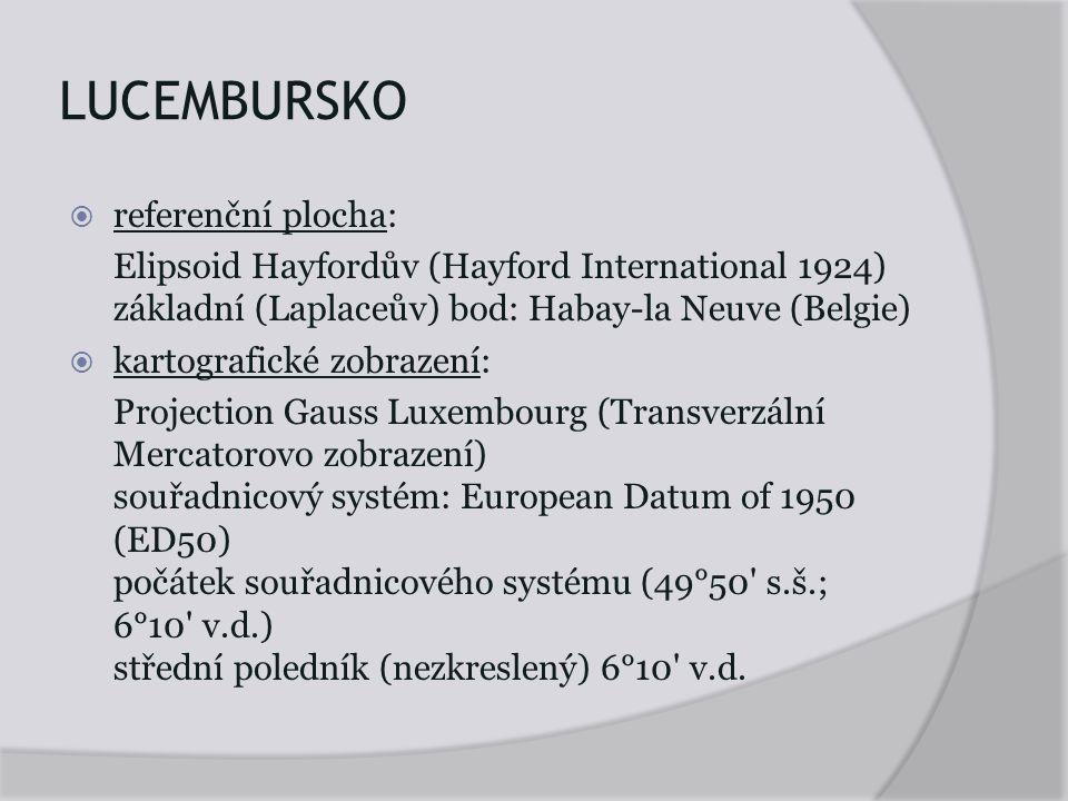 LUCEMBURSKO referenční plocha: