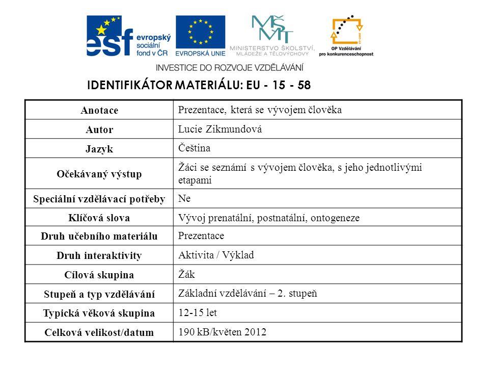 Identifikátor materiálu: EU - 15 - 58