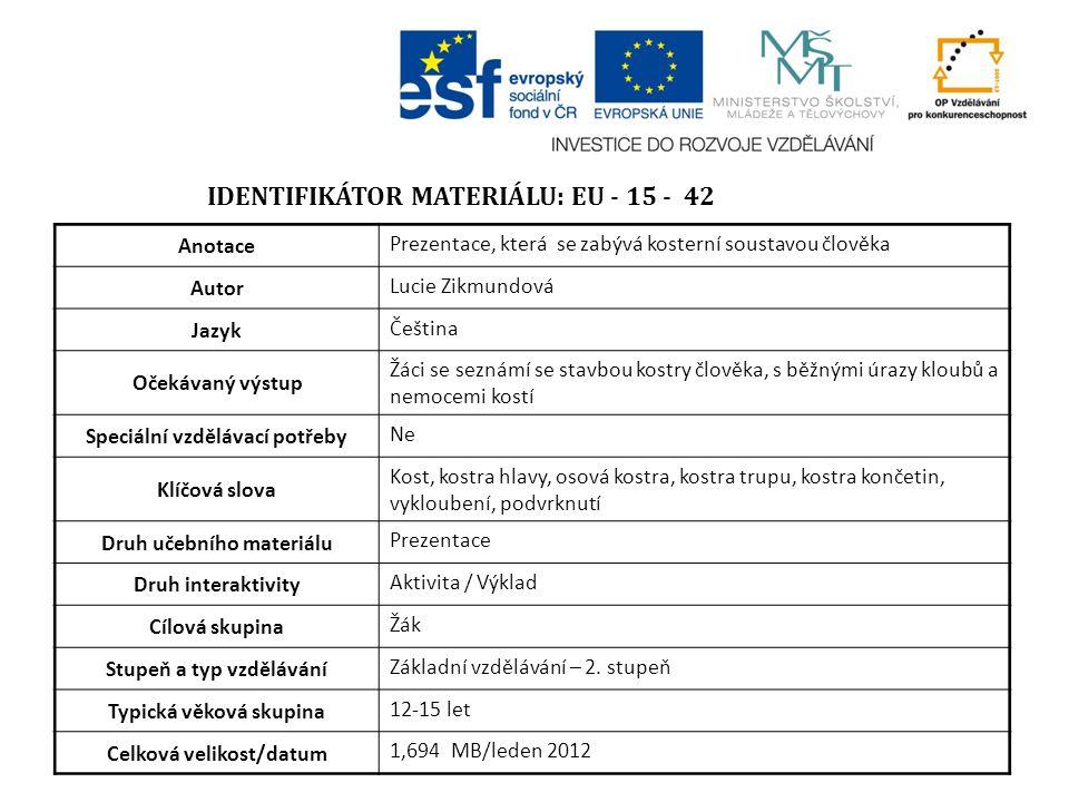 Identifikátor materiálu: EU - 15 - 42