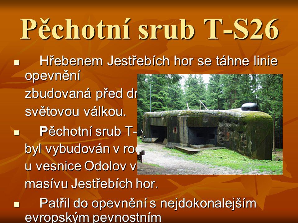 Pěchotní srub T-S26 zbudovaná před druhou světovou válkou.