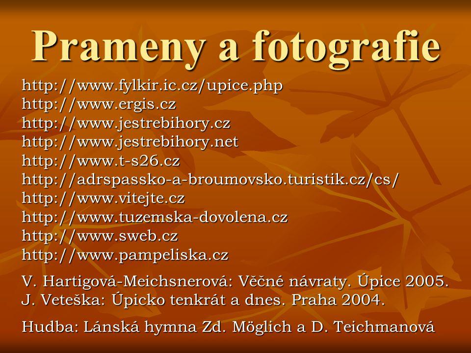 Prameny a fotografie http://www.fylkir.ic.cz/upice.php