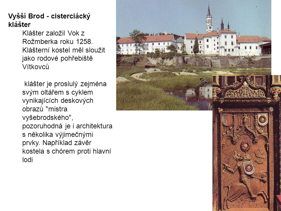 Vyšší Brod - cisterciácký klášter