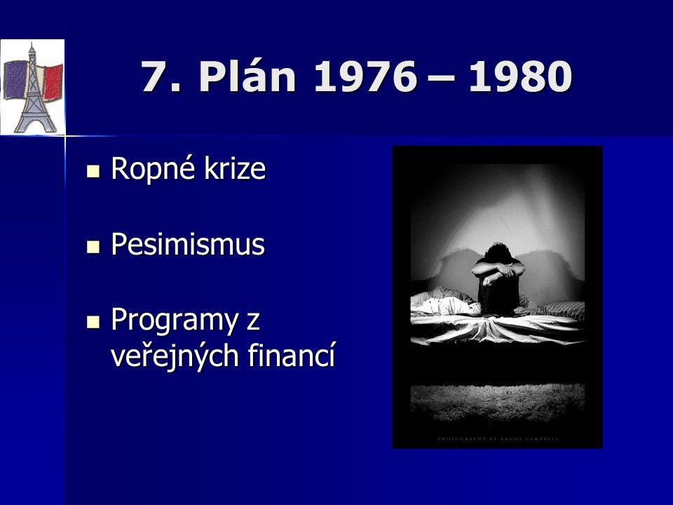 7. Plán 1976 – 1980 Ropné krize Pesimismus