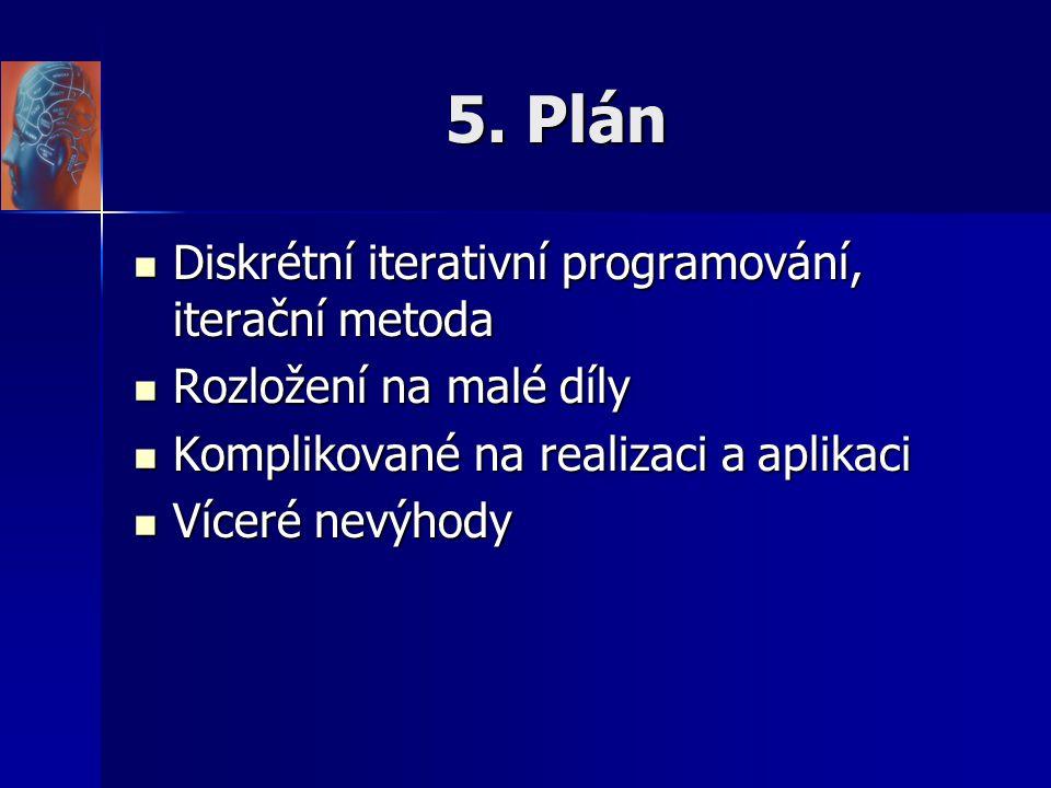 5. Plán Diskrétní iterativní programování, iterační metoda