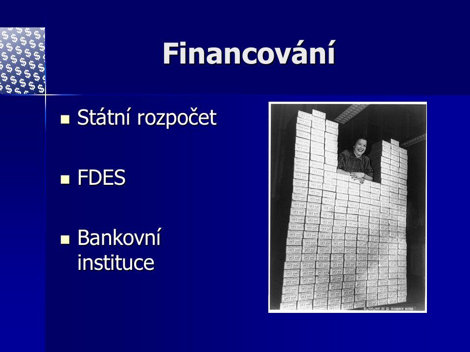 Financování Státní rozpočet FDES Bankovní instituce