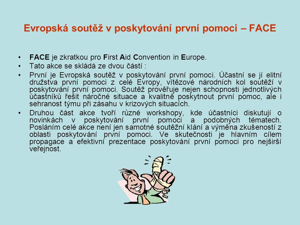 Evropská soutěž v poskytování první pomoci – FACE