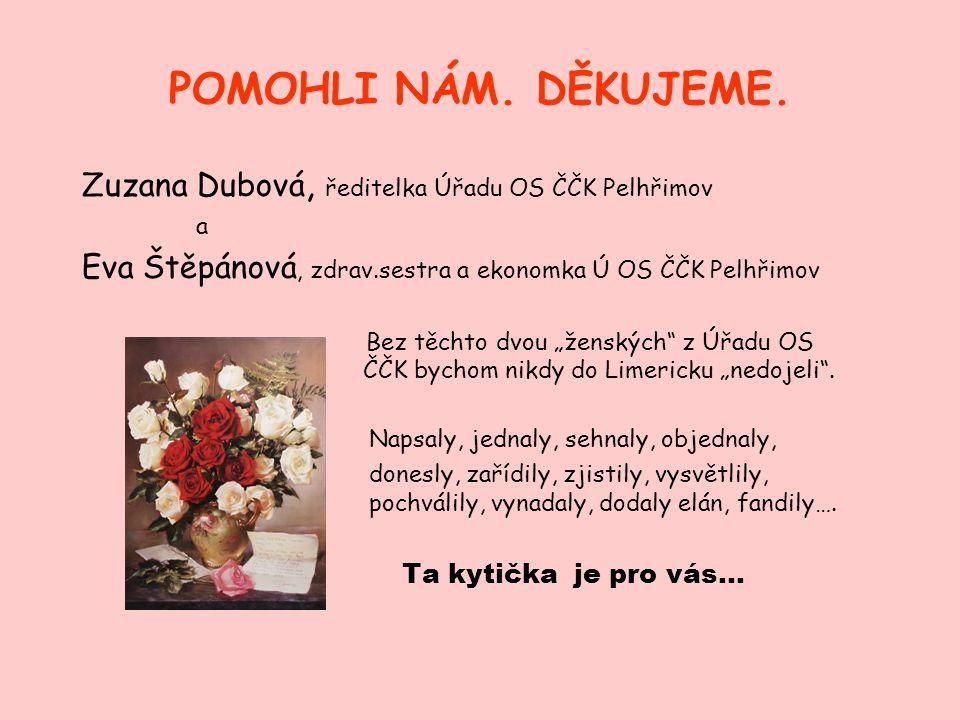 POMOHLI NÁM. DĚKUJEME. Zuzana Dubová, ředitelka Úřadu OS ČČK Pelhřimov