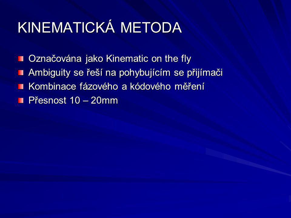 KINEMATICKÁ METODA Označována jako Kinematic on the fly