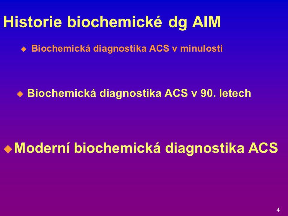 Historie biochemické dg AIM