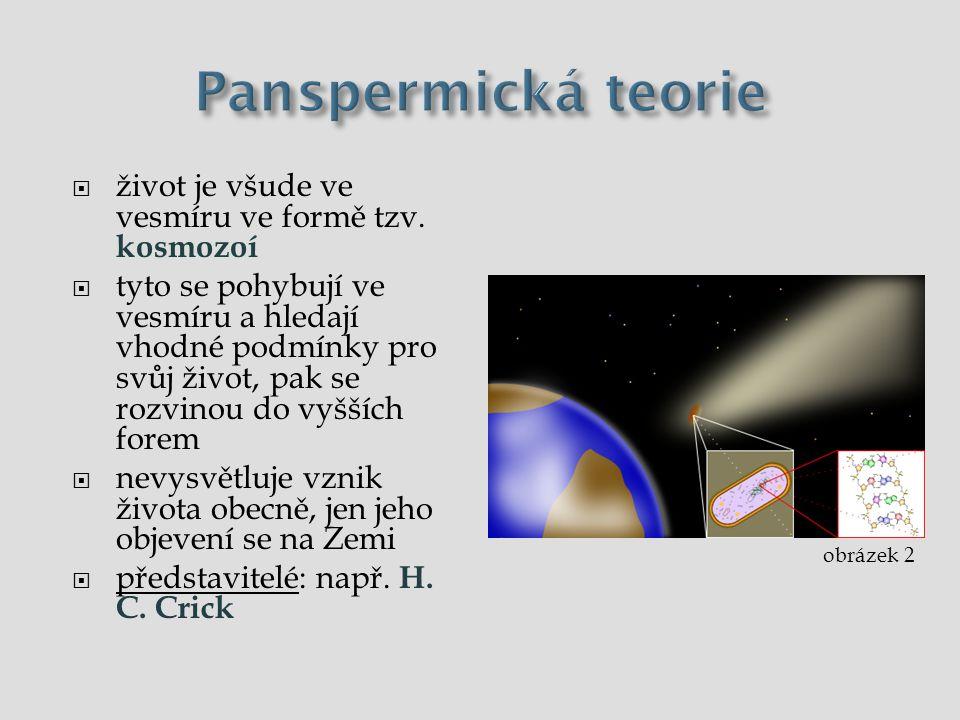 Panspermická teorie život je všude ve vesmíru ve formě tzv. kosmozoí