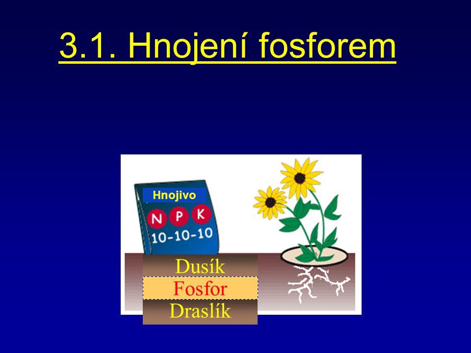 3.1. Hnojení fosforem Hnojivo Dusík Fosfor Draslík
